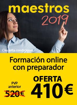 Oposiciones Maestros 2019 - Formación online con preparador