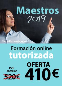 Oposiciones Maestros 2019 - Formación online tutorizada