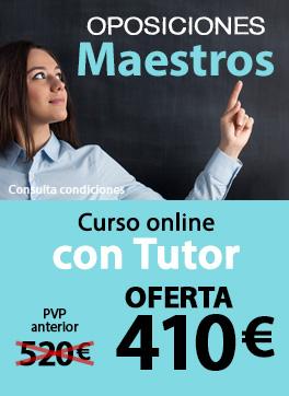 Curso online con Tutor - Oposiciones Maestros